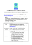 Listed Building Consent Application Checklist