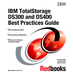 IBM TotalStorage DS300 and DS400 Best Practices Guide