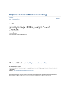 Public Sociology, Hot Dogs, Apple Pie, and Chevrolet