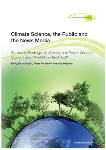 Climate Science, the Public and the News Media