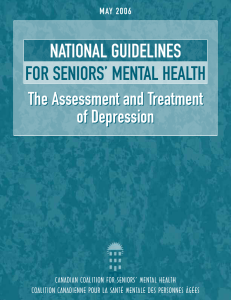 national guidelines for seniors` mental health