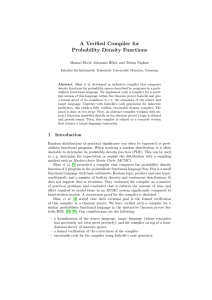 A Verified Compiler for Probability Density Functions