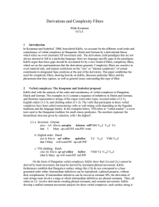 Derivations and Complexity Filters