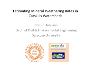 Estimating Mineral Weathering Rates in Catskills