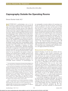 Capnography Outside the Operating Rooms