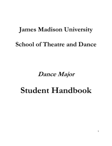 James Madison University School of Theatre and Dance Dance