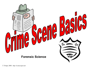 Crime Scene Basics Notes