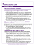 Pancreatic Cancer Facts 2011 - Pancreatic Cancer Action Network