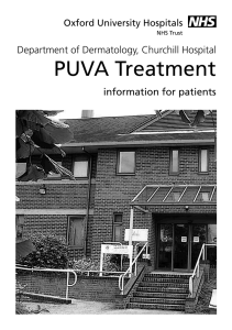 PUVA Treatment - Oxford University Hospitals