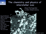 The chemistry and physics of interstellar ices