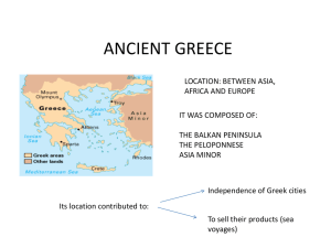 ANCIENT GREECE NOTES 1 - SRO - Social Science