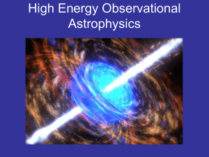 High Energy Observational Astrophysics