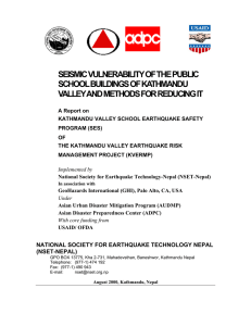 seismic vulnerability of the public school buildings of