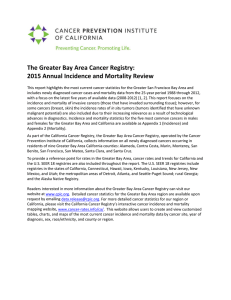 2015 Annual Cancer Incidence and Mortality Review