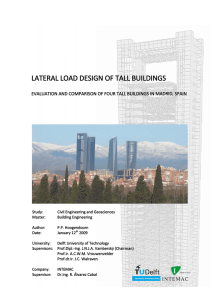 lateral load design of tall buildings