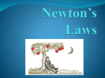 Newton*s Laws - MTHS - Kelly