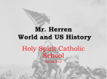 Mr. Herren World History - Holy Spirit Catholic School