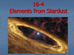Elements from Stardust