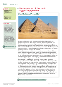 Masterpieces of the past: Egyptian pyramids Who Built the Pyramids?