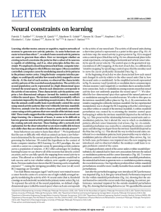Neural constraints on learning