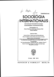 Norbert Elias and American Sociology