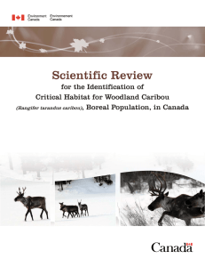 2008. Scientific Review for the Identification of Critical Habitat
