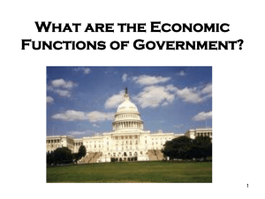 What are the Economic Functions of Government?