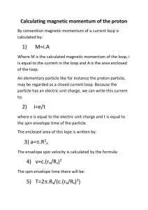 By convention magnetic momentum of a current loop is calculated by