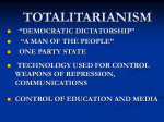 totalitarianism - Brookdale Community College