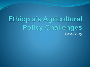 Ethiopia`s Agricultural Policy Challenges