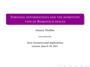 Toroidal deformations and the homotopy type of Berkovich spaces