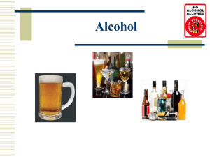 Alcohol - Staff Web Pages