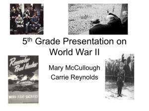 5th Grade Presentation on the Constitution and World War II