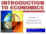 Chapter 11 - Introduction to Macroeconomics