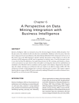 A Perspective on Data Mining Integration with Business Intelligence