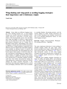 Wing-shaking and wing-patch as nestling begging strategies: their