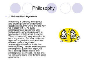arguments - UCSD Philosophy