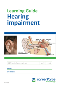 Effect of hearing loss