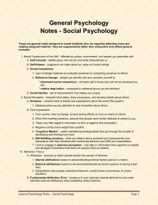 General Psychology Notes - Social Psychology