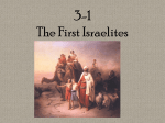 3-1 The First Israelites
