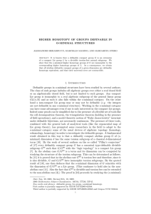 HIGHER HOMOTOPY OF GROUPS DEFINABLE IN O