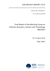 Final Report of the Working Group on Fisheries Acoustics, Science