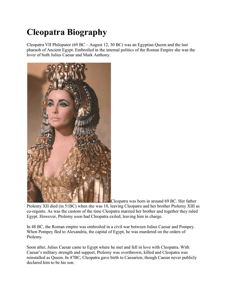 cleopatra educational background
