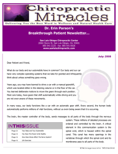 Chiropractic Miracles Newsletter
