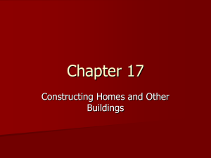 Chapter 17 Construction Homes