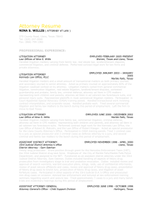 NSW Attorney Resume - Law Office of Nina S Willis | Attorney