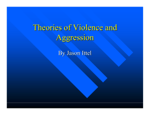 Theories of Violence and Aggression