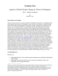 Teaching Notes: Impacts of Global Climate Change on Tribes in