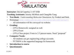 Why do simulations? - Course Website Directory