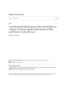 Constitutional Adjudication in the United States as a Means of